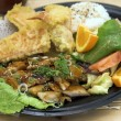 MisoYaki Chicken Combo Plate - Stock Photo
