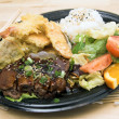 Stock Photo: TeriYaki Beef Combo Plate