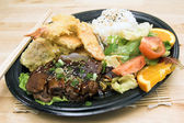 TeriYaki Beef Combo Plate — Stock Photo