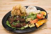 Prato de carne de porco misoyaki — Foto Stock