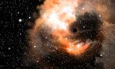 Black hole and nebula — Stock Photo