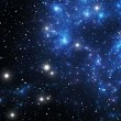 Blue space star nebula — Stock Photo