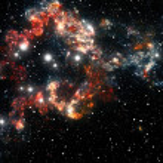 Colorful space star nebula — Stock Photo #7423167