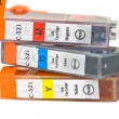 Set of ink printer cartridges - Stock Photo