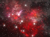 Red space star nebula — Stock Photo