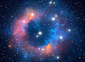 Colorful space star nebula — Stock Photo