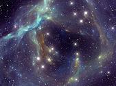Colorful space star nebula — Stock Photo