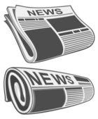 Rolled newspaper vector — Stock Vector