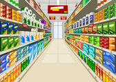Supermarket — Stock Vector