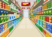 Supermarket — Vector de stock