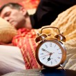Stock Photo: Room clock man lazy sleep wake alert