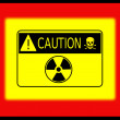 Caution sign table — Stock Photo