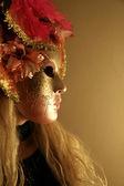 венецианский карнавал маска - профиль — Стоковое фото