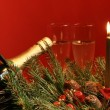 Christmas table decorations — Stock Photo