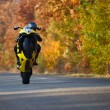 Stock Photo: Wheelie on motorcycle