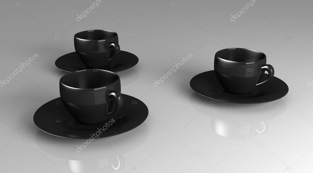 3D rendered Illustration. Coffee or Tea cups. — Stock Photo #6818633