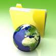 Global Folder - Europe — Stock Photo