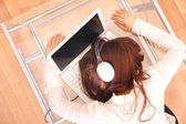 Sleeping on the Laptop — Stock Photo