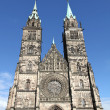 Cathedral St. Lorenz of Nuremberg — Stock Photo