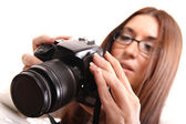Reviewing the digital Camera — Stock Photo