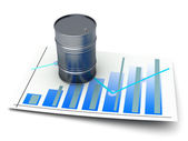 Oil statistic — Stock Photo
