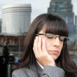 Exhausted Business Woman — Stock Photo