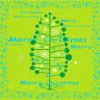 Winter Tree Background , Christmas vector card — Imagen vectorial