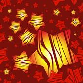 Röd jul mönster med stjärnor, vektor. — Stockvektor