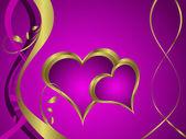 фиолетовый сердца валентина фон — Cтоковый вектор