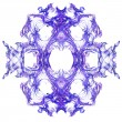Abstract symmetrical fractal background - Stock Photo