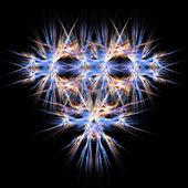 Abstrakt symmetriska fraktal bakgrund — Stockfoto