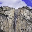 Waterfall in Yosemite - Stock Photo