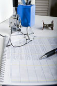 Accounting Ledger office desk — Stock Photo