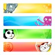 Royalty-Free Stock Vector Image: Anime banners | Set 2
