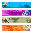 Urban banner backgrounds - Stock Vector
