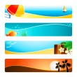 Beach time banner backgrounds — Vettoriali Stock