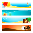 Stock Vector: Beach time banner backgrounds