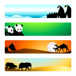 Stock Vector: Travel banners | Set 1