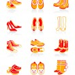 Footwear icons | JUICY series — Stock Vector