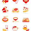 Japanese sushi-bar icons | JUICY series — Stock Vector