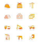 Construction icons | JUICY series — Stock Vector