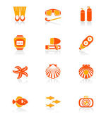 Scuba diving icons | JUICY series — Stock Vector