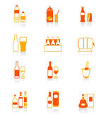 Drinks icons | JUICY series — Stock Vector