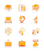 Education icons | JUICY series — Stock Vector