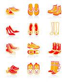 Footwear icons | JUICY series — Stock Vector
