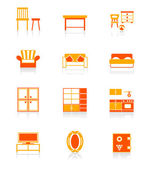 Home furniture icons | JUICY series — Stock Vector