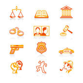 Law and order icons | JUICY series — Stockvektor