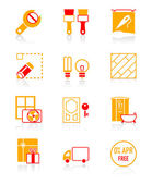 Home repair icons | JUICY series — Stock Vector