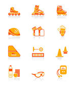 Inline skating icons | JUICY series — Stock Vector