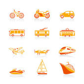 Transportation icons | JUICY series — Stock Vector